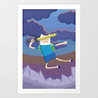 Finn The Human Is Gonna … Art Print