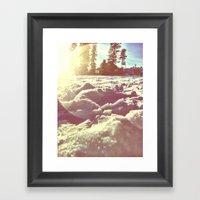 Ski Lodge Days Framed Art Print