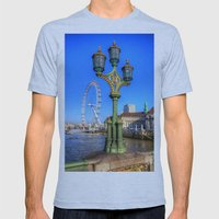 London Eye, London Mens Fitted Tee Athletic Blue SMALL