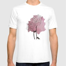 peonies White Mens Fitted Tee SMALL