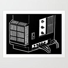 Amplifier White on Black Art Print