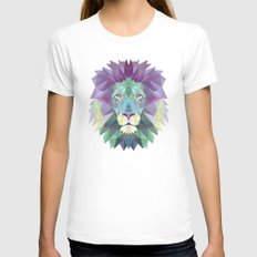 Lion Womens Fitted Tee White SMALL