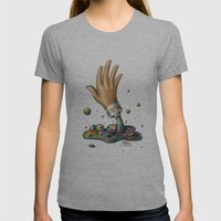 Hand of Color Womens Fitted Tee Athletic Grey SMALL