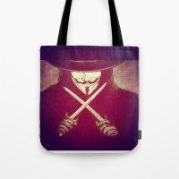 V for Vendetta4 Tote Bag