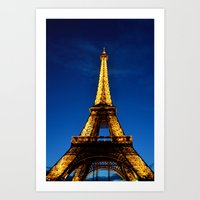 eiffel Art Prints featuring Eiffel by Heather Hartley