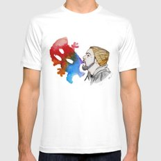Strange Clouds Mens Fitted Tee White SMALL