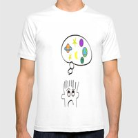 Space Dreaming Mens Fitted Tee White SMALL