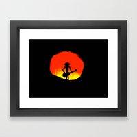 Evil Player Framed Art Print