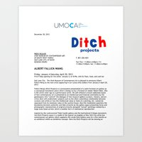 UMOCA Press Release (Page 1) Art Print
