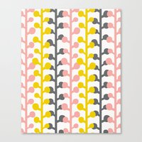 Sprig - Pink Lemonade Canvas Print
