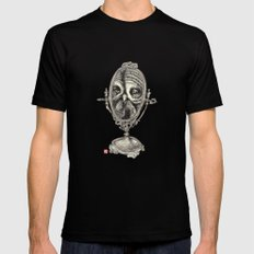 Owl Mirror SMALL Black Mens Fitted Tee