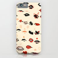 lips iPhone & iPod Cases featuring Lips by Visualcrafter