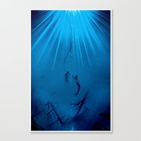 A Watery Meeting Canvas Print