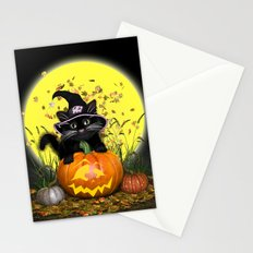 Pumpkin Kitty Stationery Cards