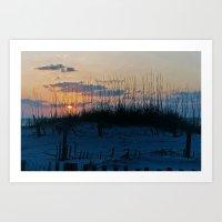 Sand Dune Sunrise Perspective Art Print