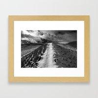 Snow Path Framed Art Print