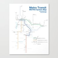 Twin Cities METRO System… Canvas Print