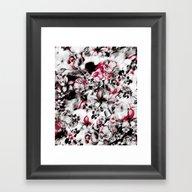 Blurry Floral Framed Art Print