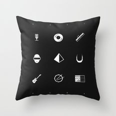 Tribute to Daft Punk, B&W. Throw Pillow