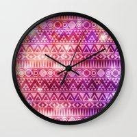 Tribal Fire. Wall Clock