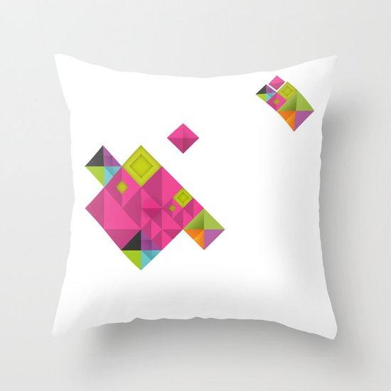 Optical illusion_grey Throw Pillow