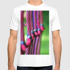 Rope SMALL White Mens Fitted Tee