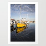 The Yellow Boat Art Print