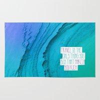 Travel mindfulness print Rug