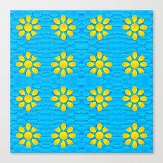 3d Daisies  Canvas Print