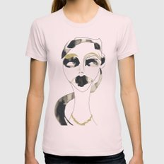 a bystander Womens Fitted Tee Light Pink SMALL