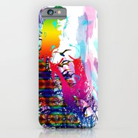 Colorful girl iPhone 6 Slim Case