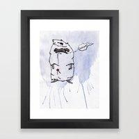 Little Lollipop Monster Framed Art Print