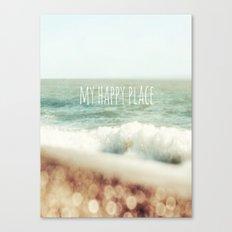 Beach - My Happy Place Canvas Print