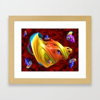 Fishy Fractals Framed Art Print