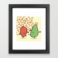 Avocado & Mango Framed Art Print