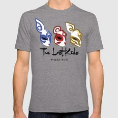 The Lost Kids Mens Fitted Tee Tri-Grey SMALL