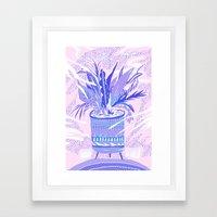 plant smell Framed Art Print