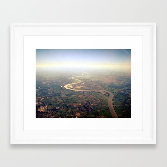 rhine from above. Framed Art Print