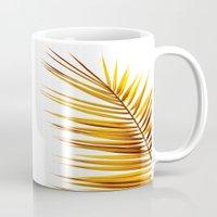 golden palm leaf II Mug