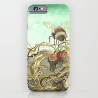 iPhone & iPod Case featuring Bumblebee in Thorns by Jess Polanshek