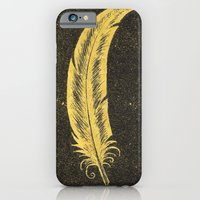 iPhone & iPod Case featuring Yellow Feather by Phoebe Dowdle