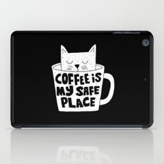 coffee is my safe place iPad Case
