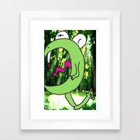 Vampire Fairy Frog Framed Art Print