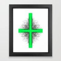 Modern Cross Framed Art Print