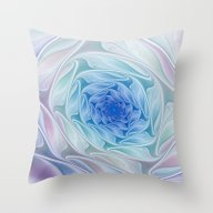 The Blue Depth, Abstract… Throw Pillow