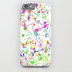 Paint Splatter 2 - White iPhone 6 Slim Case