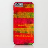 FIERCE - Intense Wild Nature Masculine Stripes Abstract Watercolor Painting Design Urban Fine Art iPhone 6 Slim Case