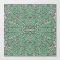 Snowflake Mint Canvas Print