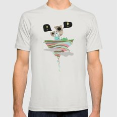 Dreaming for an adventure. Mens Fitted Tee Silver SMALL
