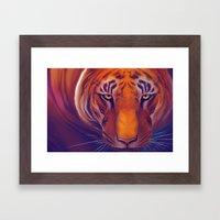 Solar Tiger Framed Art Print